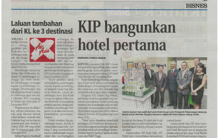 KIP Hotel on Sinar Harian 27-08-2013