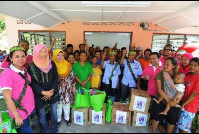 Visit to Orang Asli Village together with Yayasan Nur – Karangkraf Malaysia