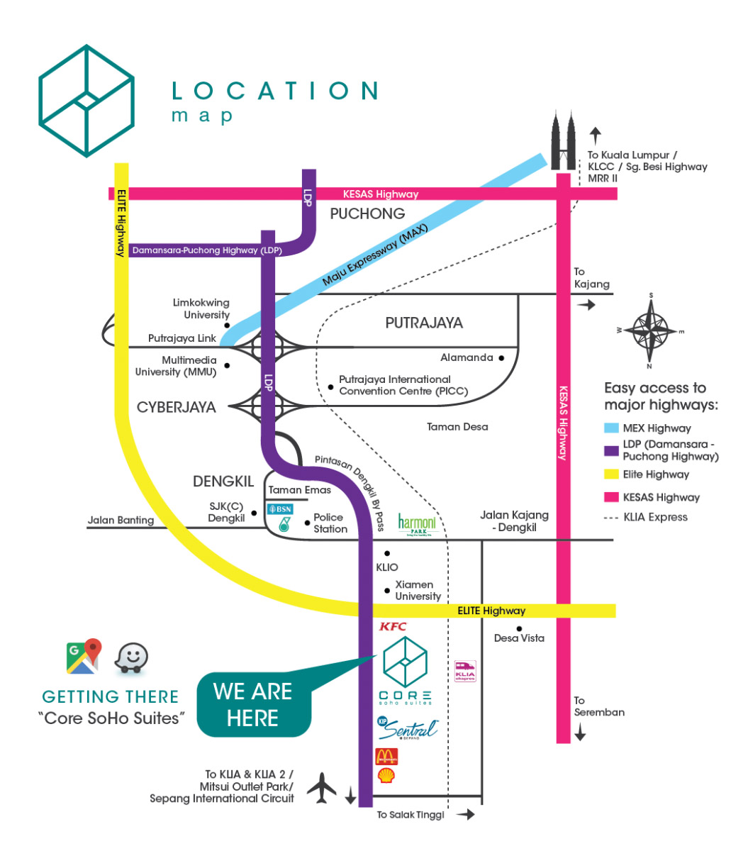 CORE SoHo Suites @ Sepang Location Map